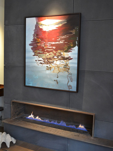 Corten Steel Fireplace And Shelf By Hollywood Design